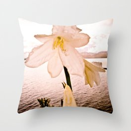 FLOWER IN THE IMMENSITY Throw Pillow