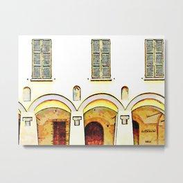 Fognano: arch and windows Metal Print