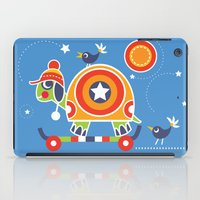 skateboard iPad Cases featuring SKATEBOARD TORTOISE by Shirley Copperwhite