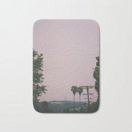 Rainy Hollywood - a rare sight Bath Mat