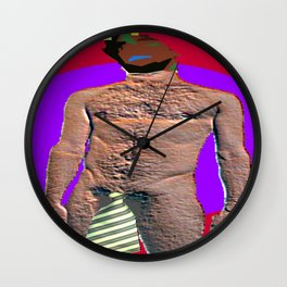 Man and his Necktie Wall Clock