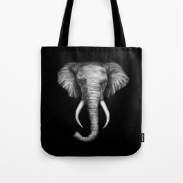 Elephant Head Trophy Tote Bag