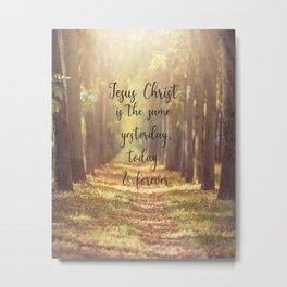 Hebrews 13:8 Jesus is the same forever  Metal Print