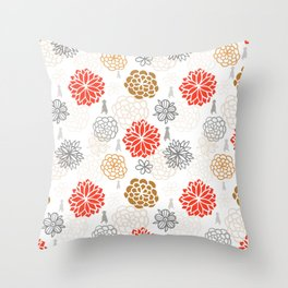 WEIM BLOOMS Throw Pillow