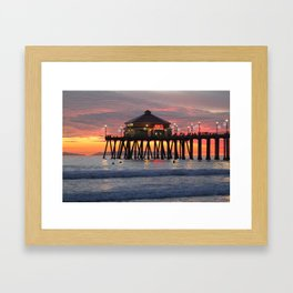 Winter Time Sunset  Framed Art Print