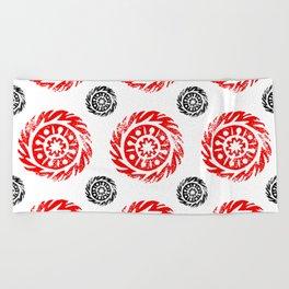 Sun mandala pattern Beach Towel