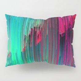 Just Chillin' - Abstract Neon Glitch Pixel Art Pillow Sham