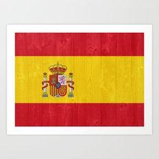 Spain flag Art Print