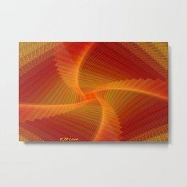 Orange Vertigo Metal Print