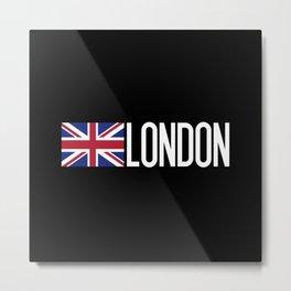 Britain: British Flag & London Metal Print