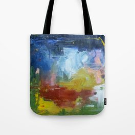 spring night fire Tote Bag