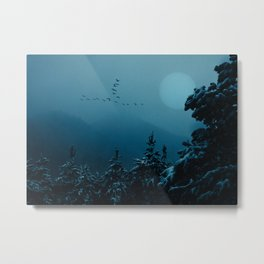Winter morning in the mountains Metal Print