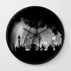 night time in the city Wall Clock
