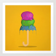 ice cream rain Art Print