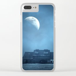 Half Moon Over Saxony Village Home Clear iPhone Case