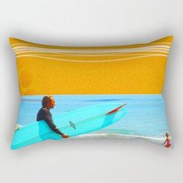 three surfers Rectangular Pillow
