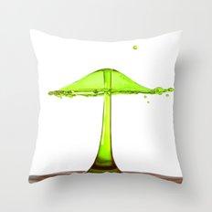 Water mushroom Throw Pillow