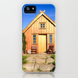 The Old Farmhouse at Hofsstaðir in Northern Iceland iPhone Case