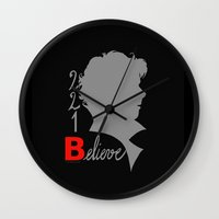 221b Wall Clocks featuring Sherlock - 221B: Believe by TheScienceofDepiction