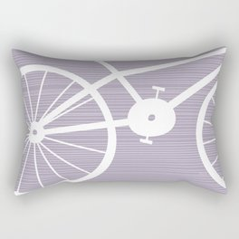 Purple Bike Rectangular Pillow