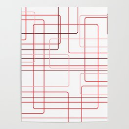 Red Cube Pattern Poster