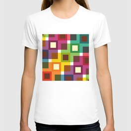 Geometric Pattern 11 (Colorful squares) T-shirt