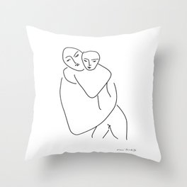Matisse - Mother and son Throw Pillow