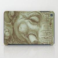 ganesh iPad Cases featuring Ganesh green by Miryams Artwork