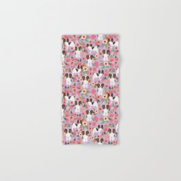 Papillon pet friendly small cute dog breed must have gift for dog lover florals dog pattern print Hand & Bath Towel