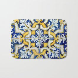 Portuguese blue tile Bath Mat