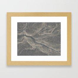 Yosemite Topo Map Framed Art Print