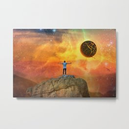 The End, Sci Fi Art, Home Decor, Scenic Wall Art, Printable Artwork, Digital Print, Fantasy Metal Print