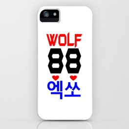 Wolf 88-Awesome KPop Group-EXO in Hangeul iPhone Case