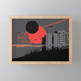 apocalypse city Framed Mini Art Print