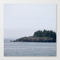 maine Canvas Prints featuring Maine by katharine stackhouse