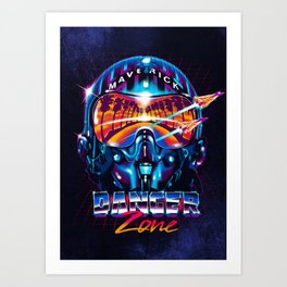 Danger Zone Art Print