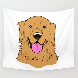 Smiling Golden  Wall Tapestry