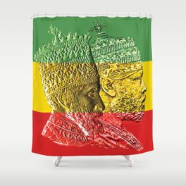 Haile Selassie King Menelik Shower Curtain