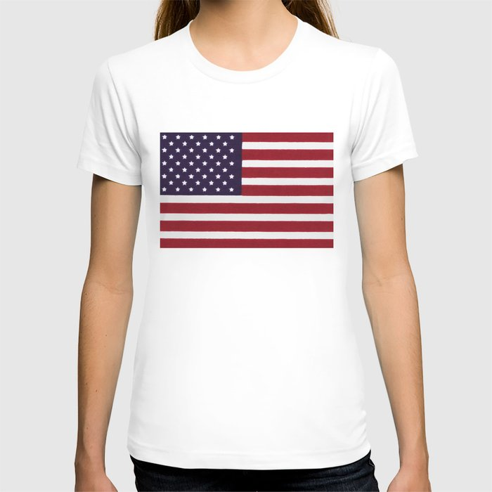 US Flag with grungy painterly textures T-shirt