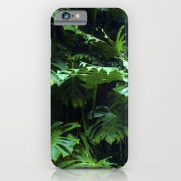 Adventure Jungle Palm Leaves On Vine iPhone Case