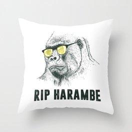 RIP Harambre Throw Pillow