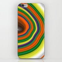 tree rings iPhone & iPod Skins featuring Tree Rings by K I R A   S E I L E R
