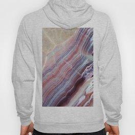 Purple & Pink Striped Agate Geode Quartz Slab Hoody