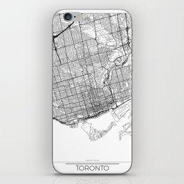 Toronto Map White iPhone Skin
