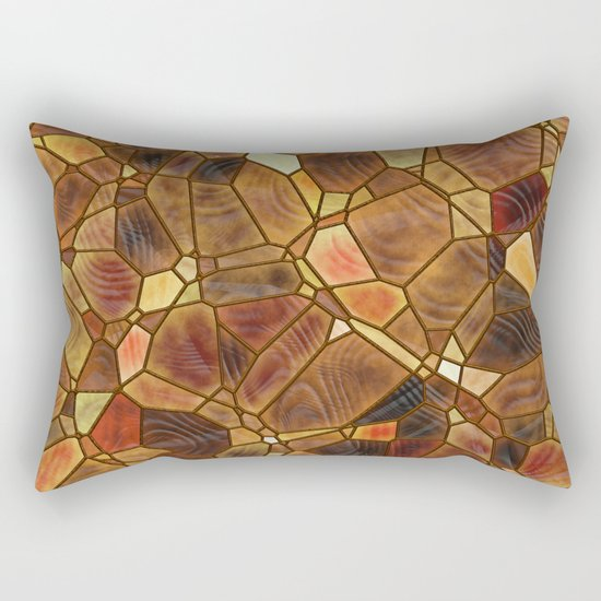 Stained Glass - Copper Rectangular Pillow