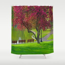 The park  Shower Curtain