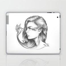 Look Life in the Face (B/W) Laptop & iPad Skin