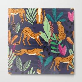 Cheetah pattern 002 Metal Print