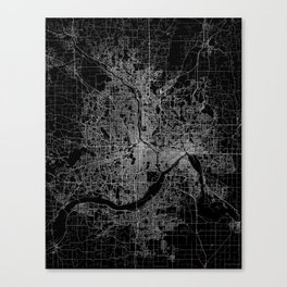 minneapolis map Canvas Print