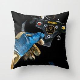 Ayrton Senna 1985 Lotus  Throw Pillow